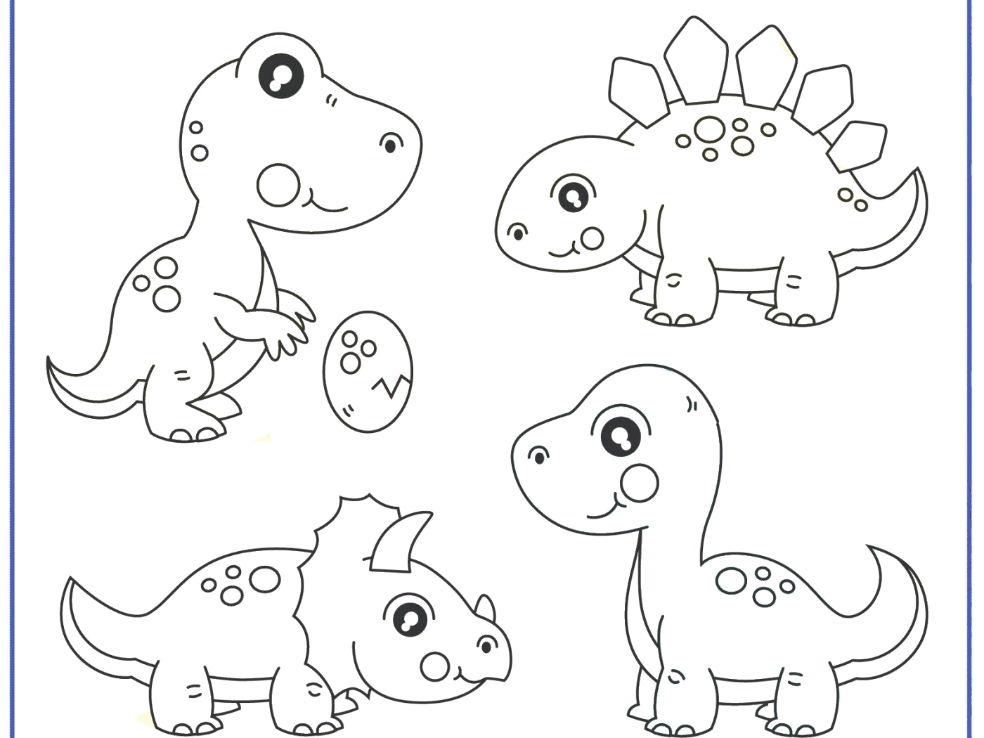 Free Printable Dinosaur Coloring Pages for Preschoolers Dinosaurs Coloring Pages for Preschoolers Coloring and