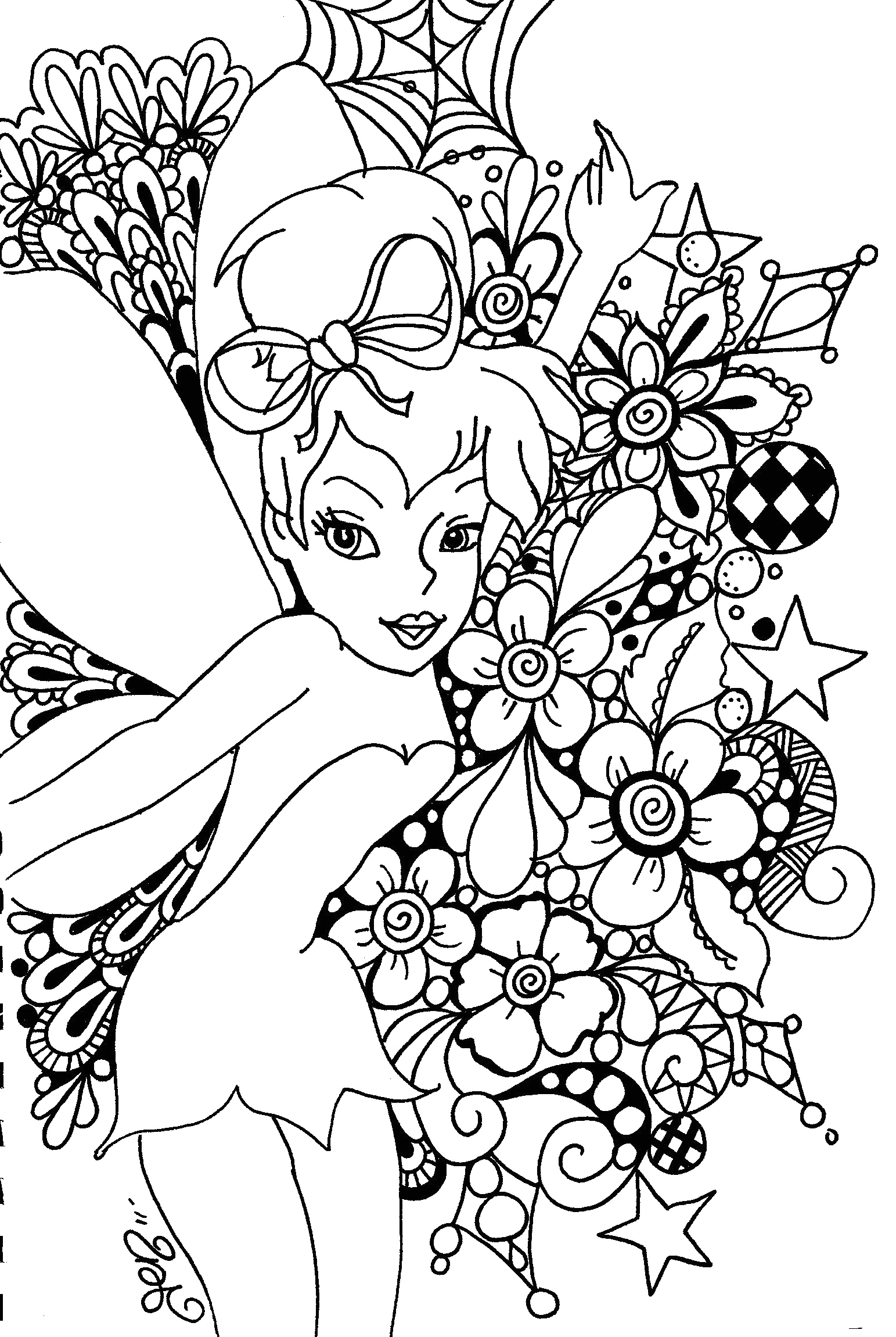 Free Printable Disney Coloring Pages for Adults Free Printable Tinkerbell Coloring Pages for Kids
