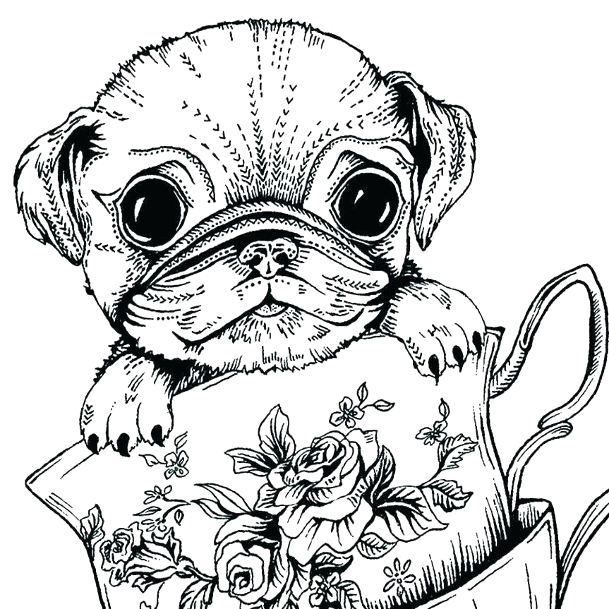 Free Printable Dog Coloring Pages for Adults Dog Coloring Pages for Adults Best Coloring Pages for Kids