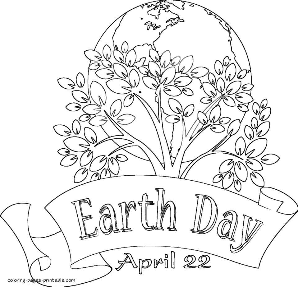 kids printable earth day coloring pages free