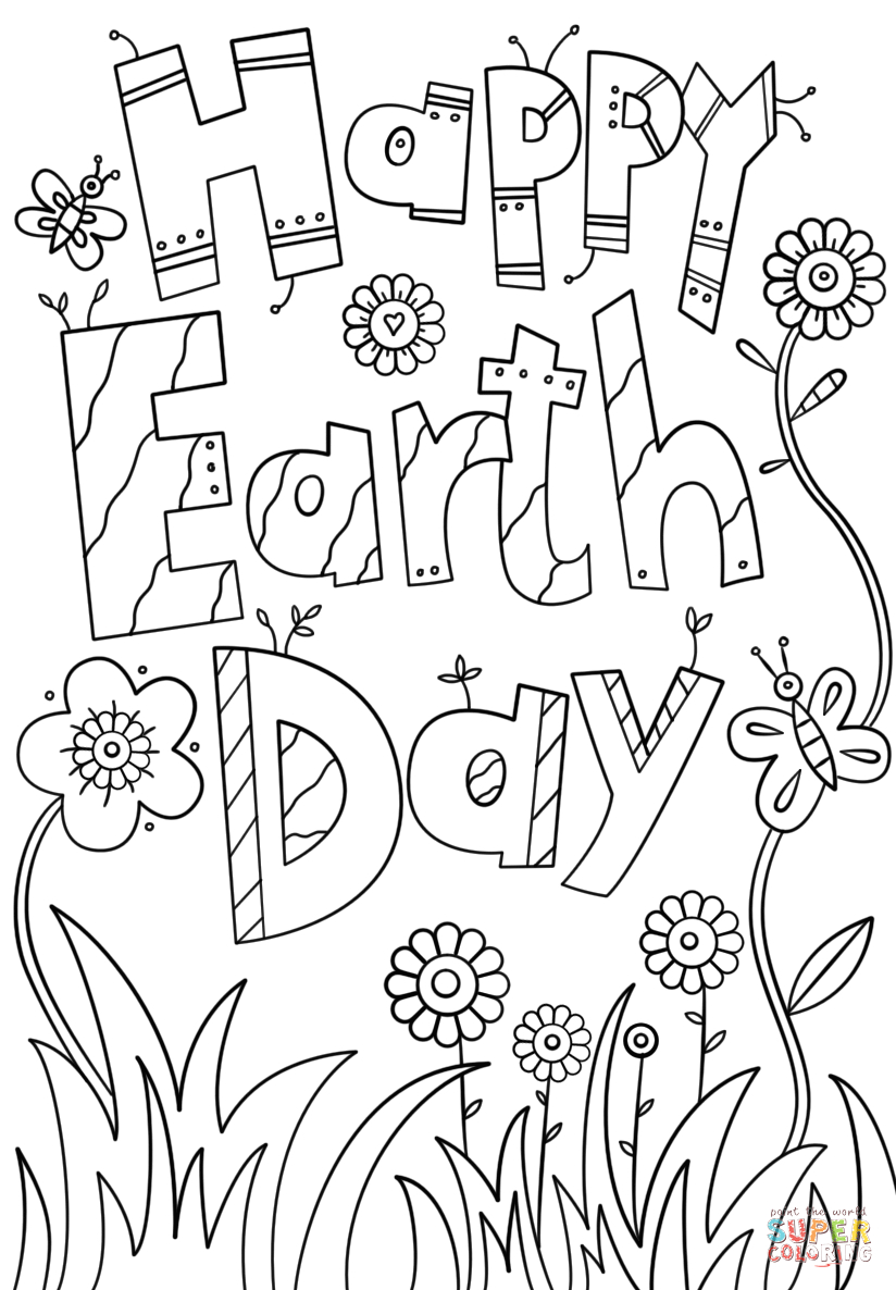 Free Printable Earth Day Coloring Pages and Activities Happy Earth Day Coloring Page