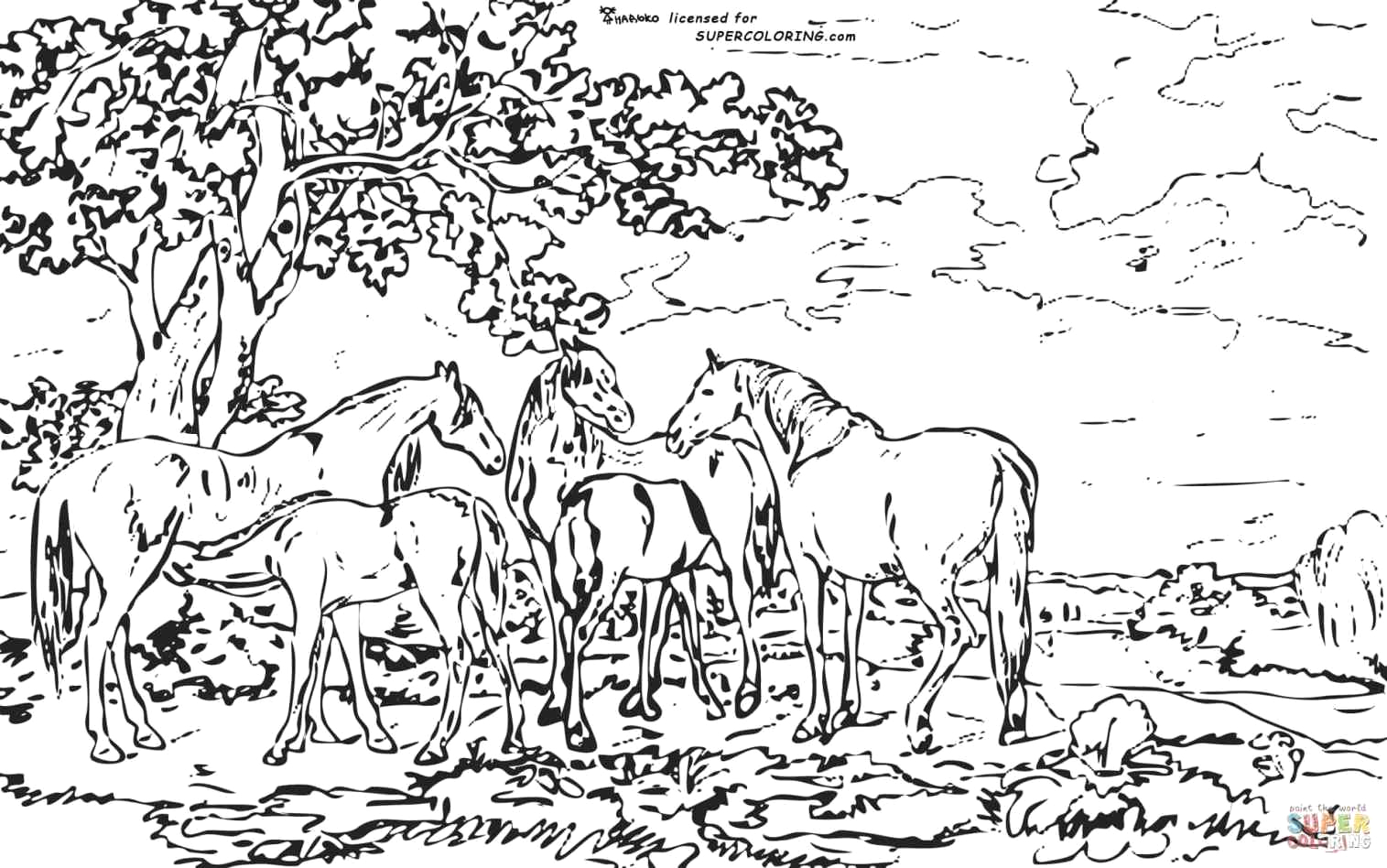 Detailed Landscape Coloring Pages For Adults part 5