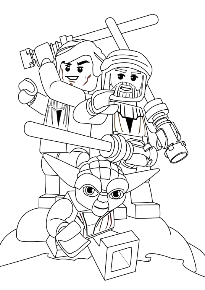 free lego star wars coloring pages to print