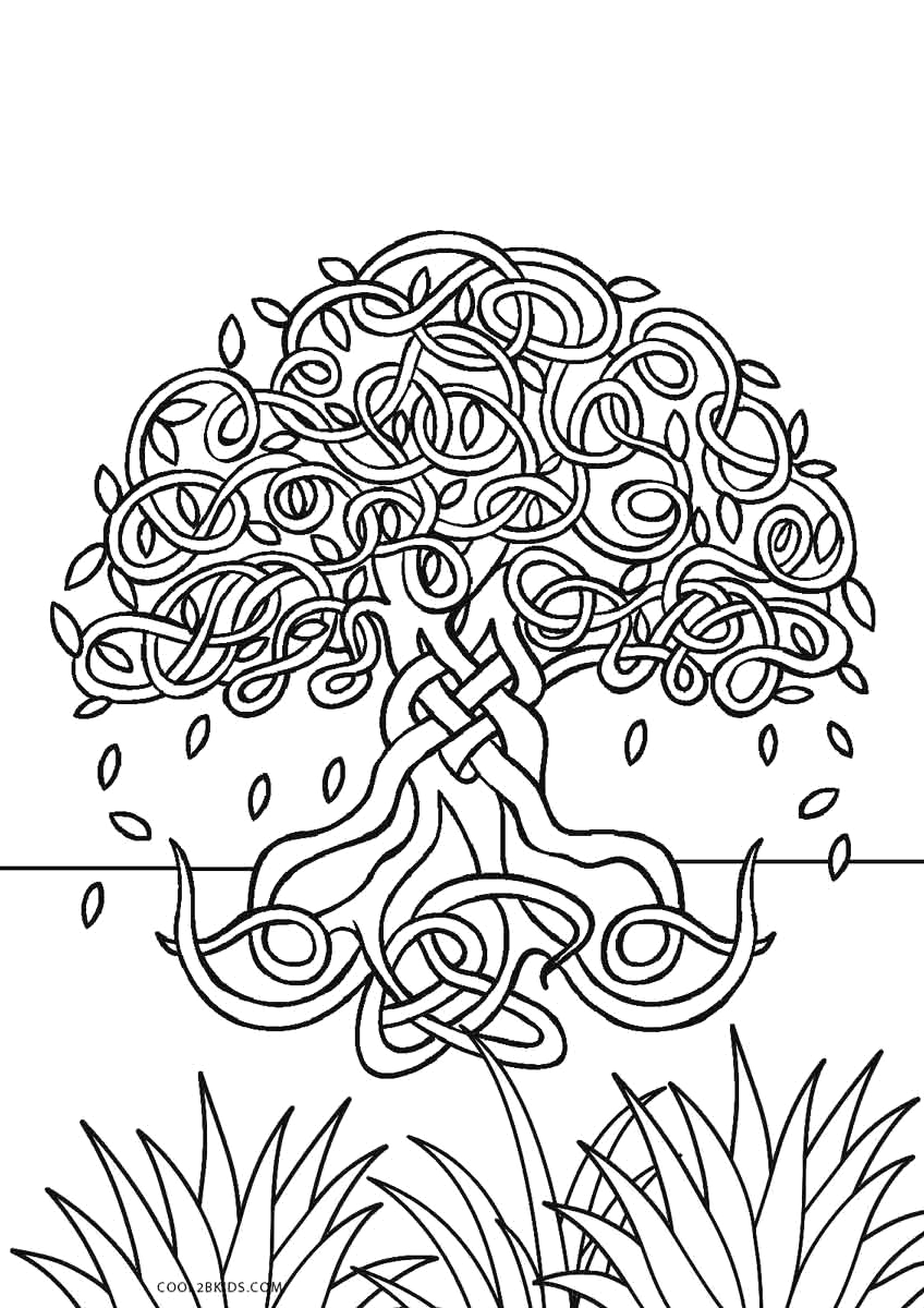 Free Printable Tree Of Life Coloring Page Free Printable Tree Coloring Pages for Kids