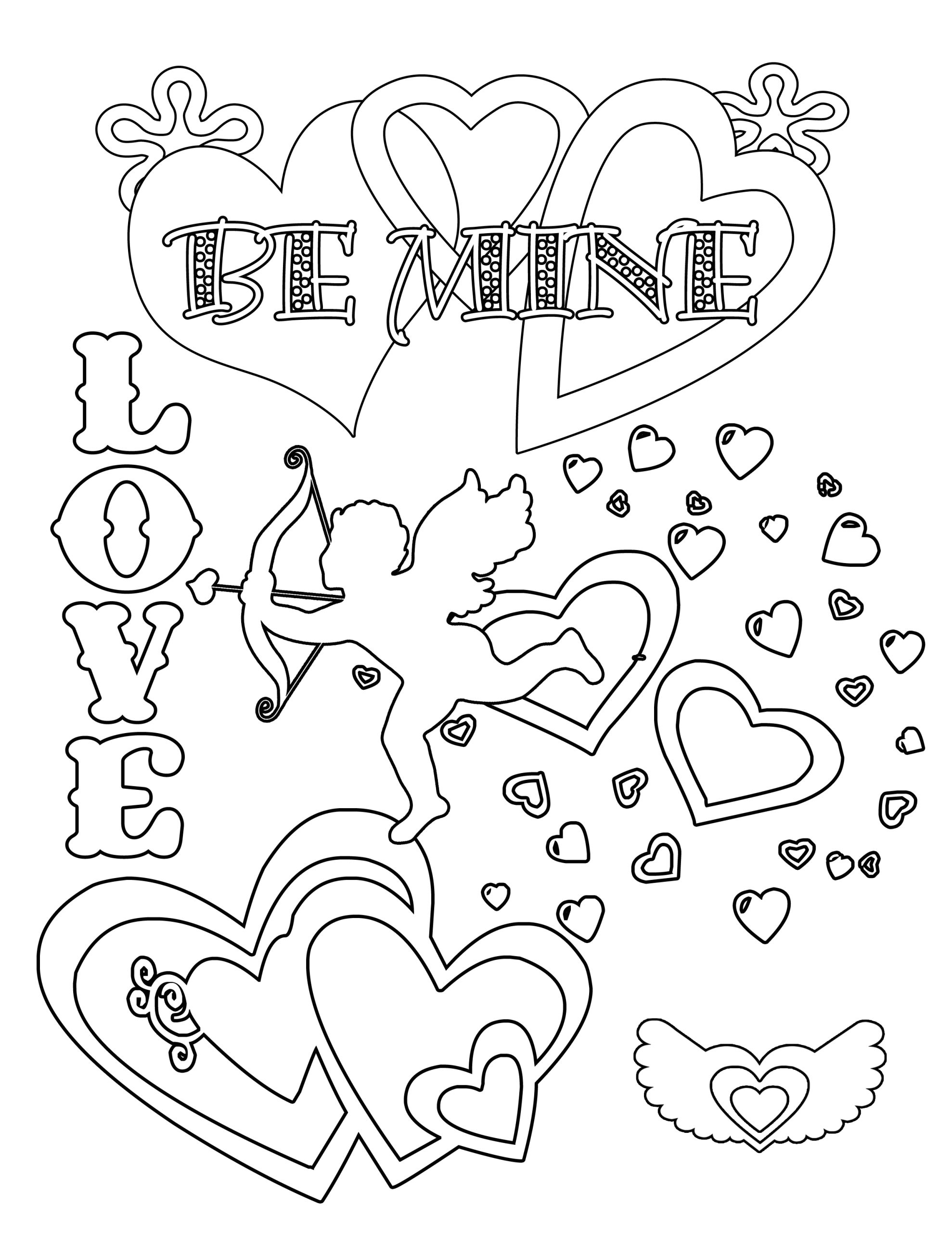 Free Printable Valentine Coloring Pages for Kids Party Simplicity Free Valentines Day Coloring Pages and