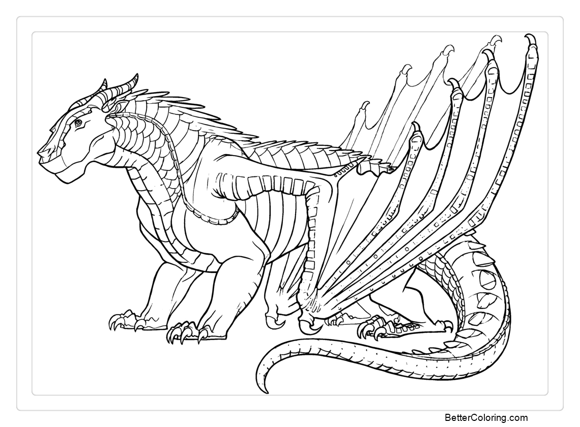 wings of fire coloring pages mudwing by iceofwaterflock