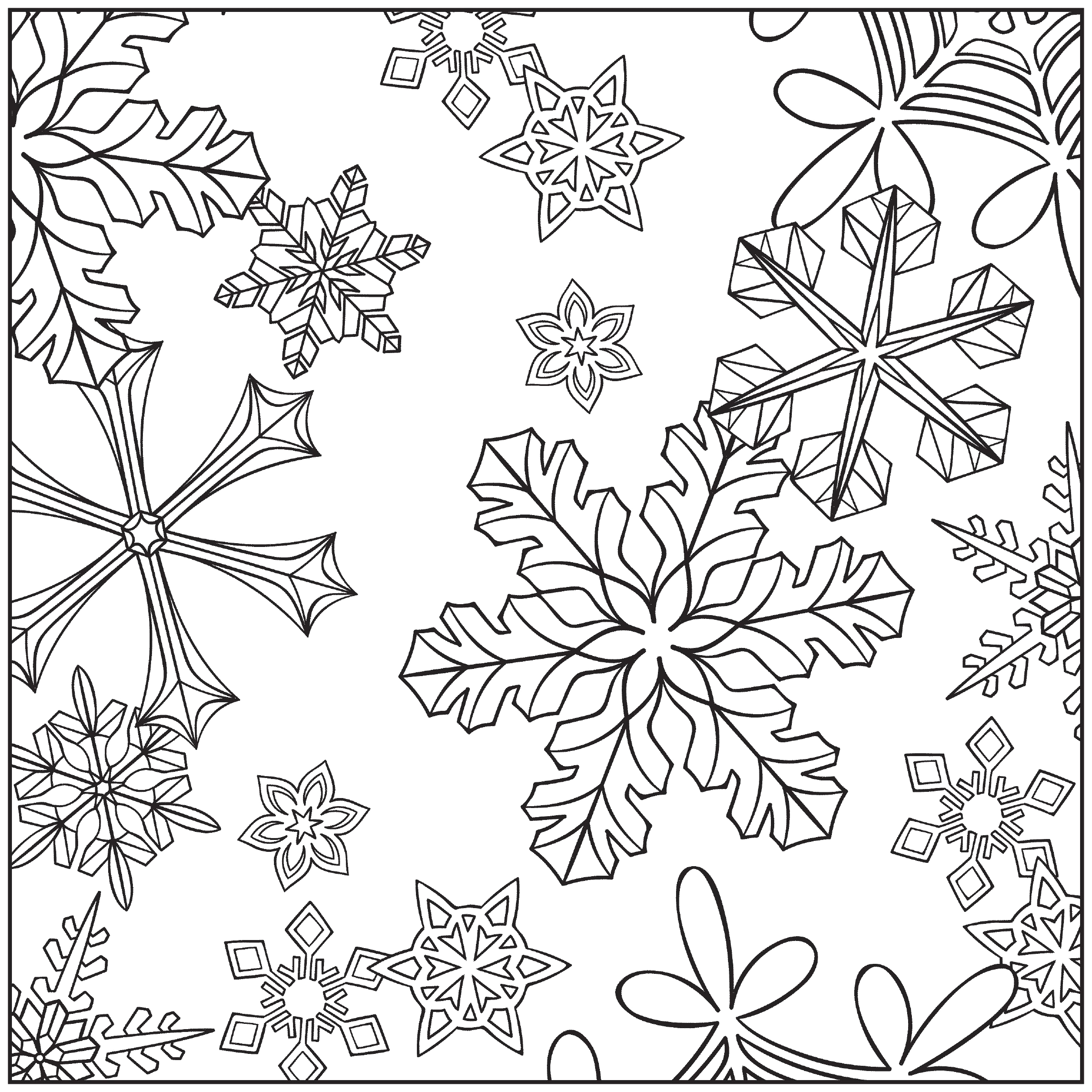 Free Printable Winter Coloring Pages for Kids Winter Coloring Pages for Adults Best Coloring Pages for