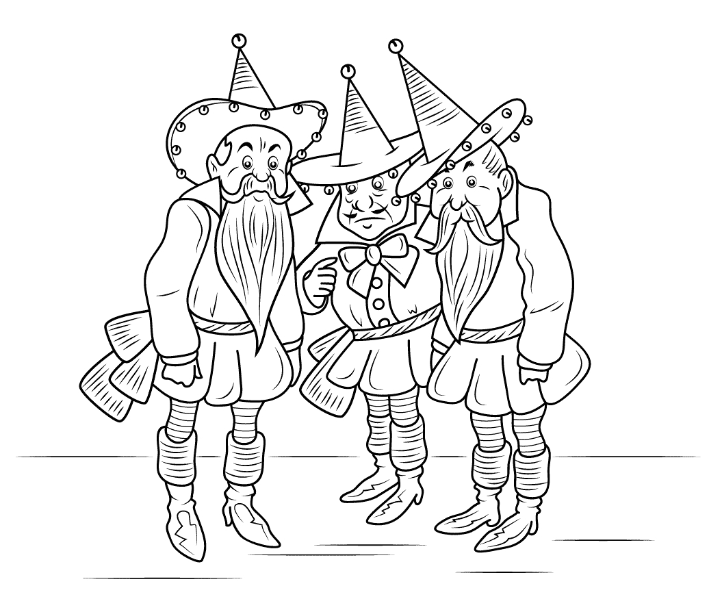 wizard oz coloring pages