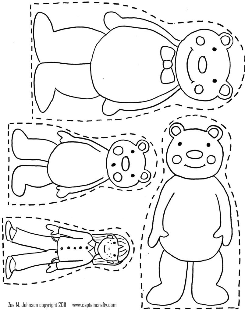 three bears goldilocks and the three bears colouring pages goldilocks and the three bears printable colouring pages
