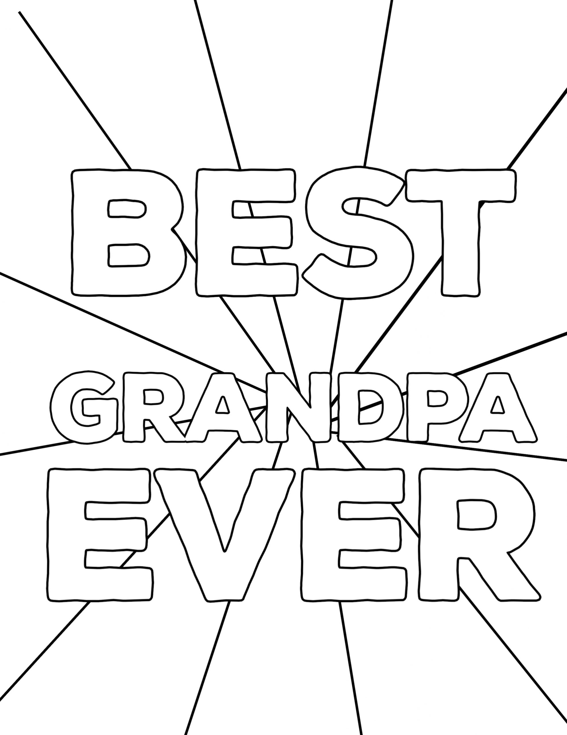 Happy Fathers Day Coloring Pages for Grandpa Happy Father S Day Coloring Pages Free Printables Paper