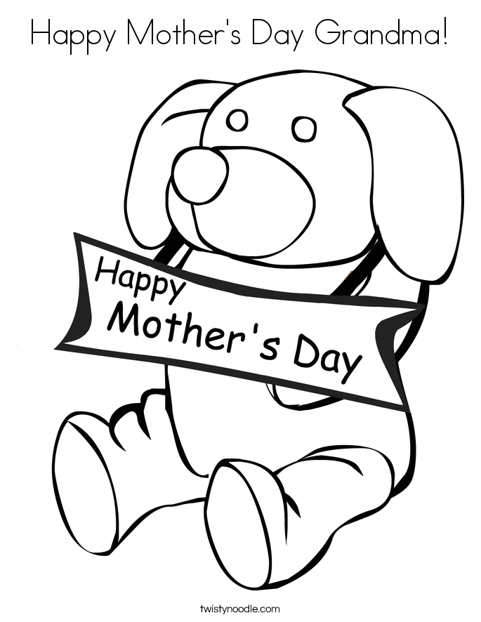 Happy Mothers Day Coloring Pages for Grandma Grandmother Coloring Pages at Getdrawings