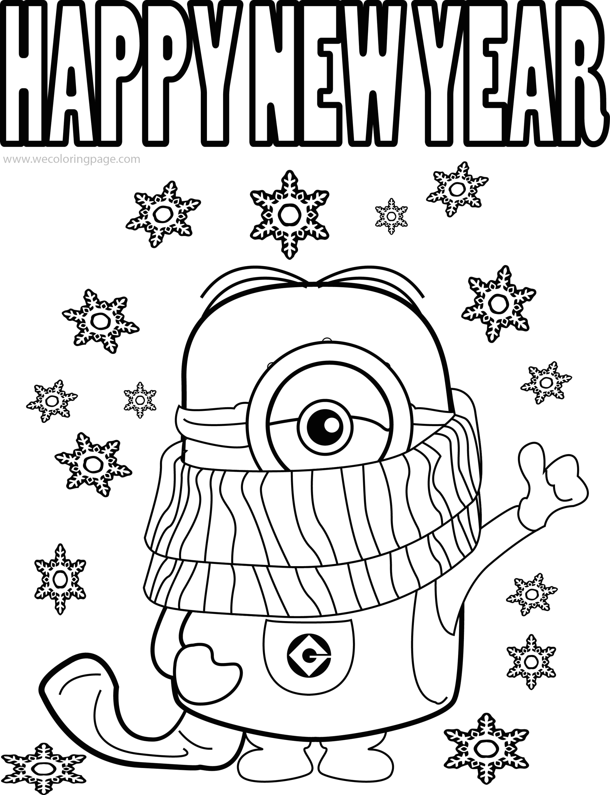 Happy New Year Coloring Pages for Kids Happy New Year 2020 Coloring Pages Coloring Home
