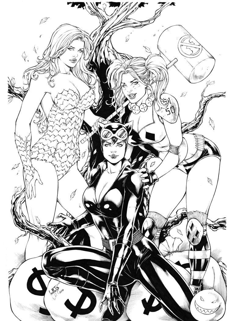 Harley Quinn and Poison Ivy Coloring Pages Pin On Coloring Pages