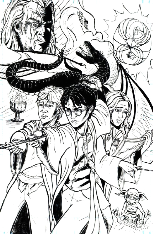 Harry Potter and the Goblet Of Fire Coloring Pages Harry Potter and the Goblet Of Fire Ic Art