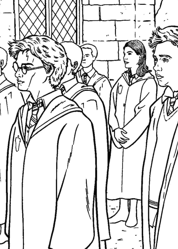 Harry Potter and the order Of the Phoenix Coloring Pages Harry Potter and order Of Phoenix Coloring Page Netart