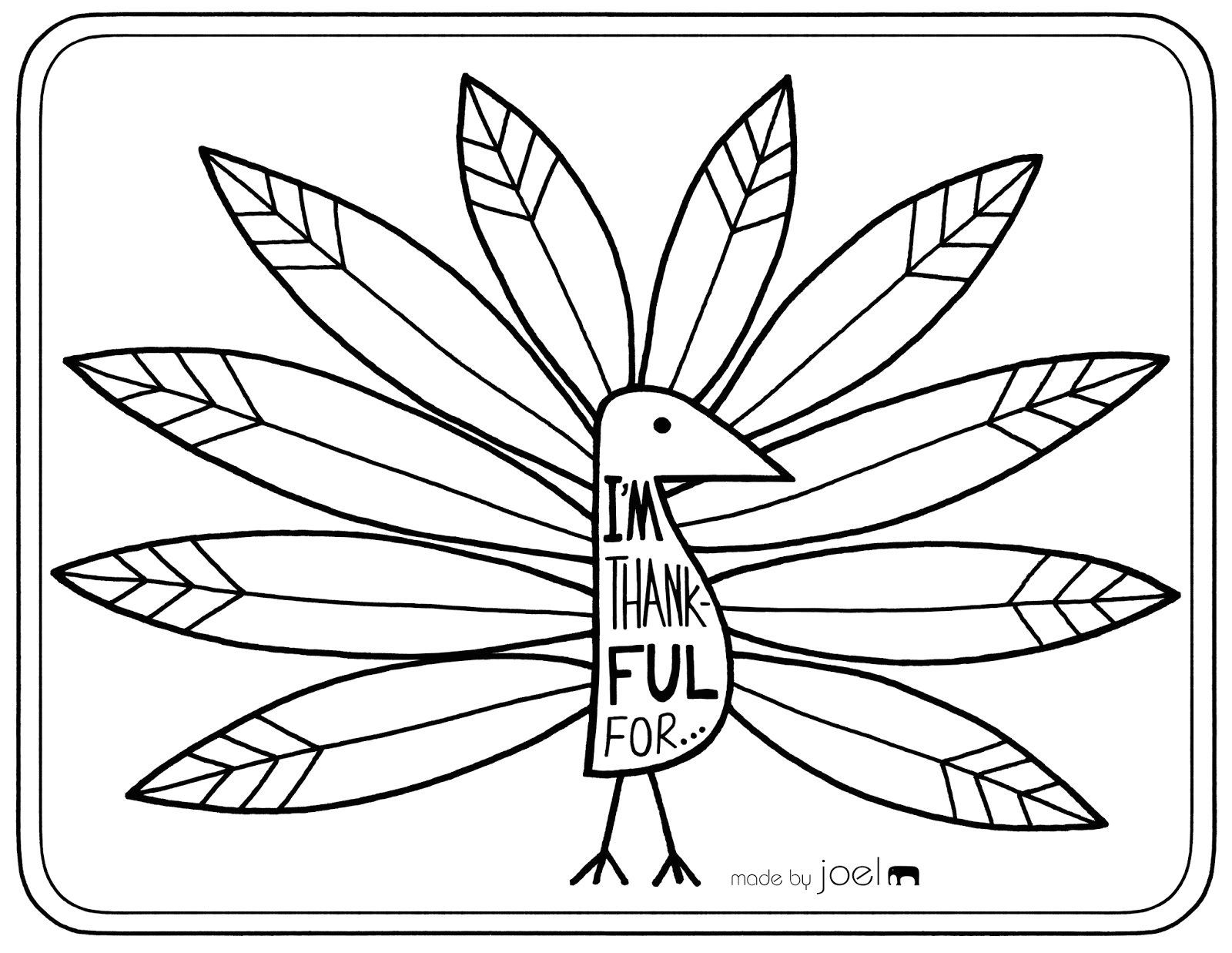 thanksgiving placemat coloring pages