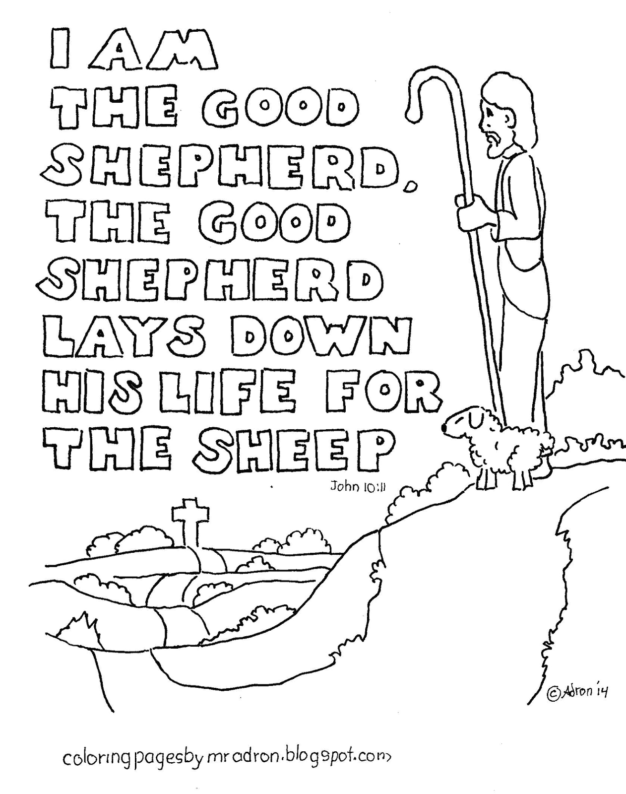 I Am the Good Shepherd Coloring Pages Coloring Pages for Kids by Mr Adron I Am the Good