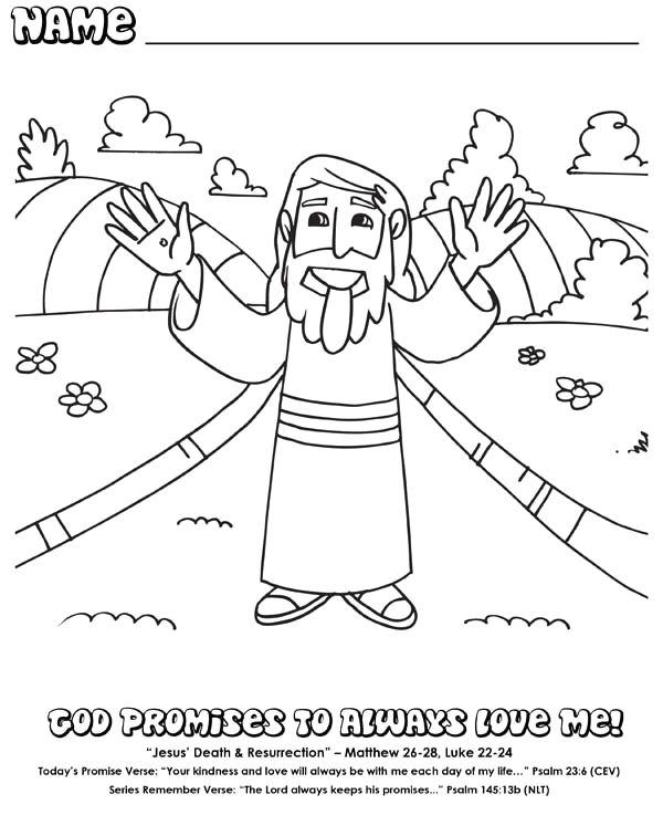 the life and i am the resurrection coloring page sketch templates
