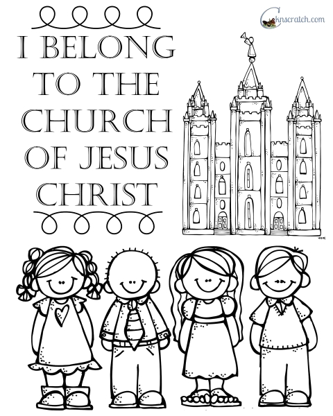 I Belong to the Church Of Jesus Christ Coloring Page Behold Your Little Es Lesson 25 I Belong to the Church
