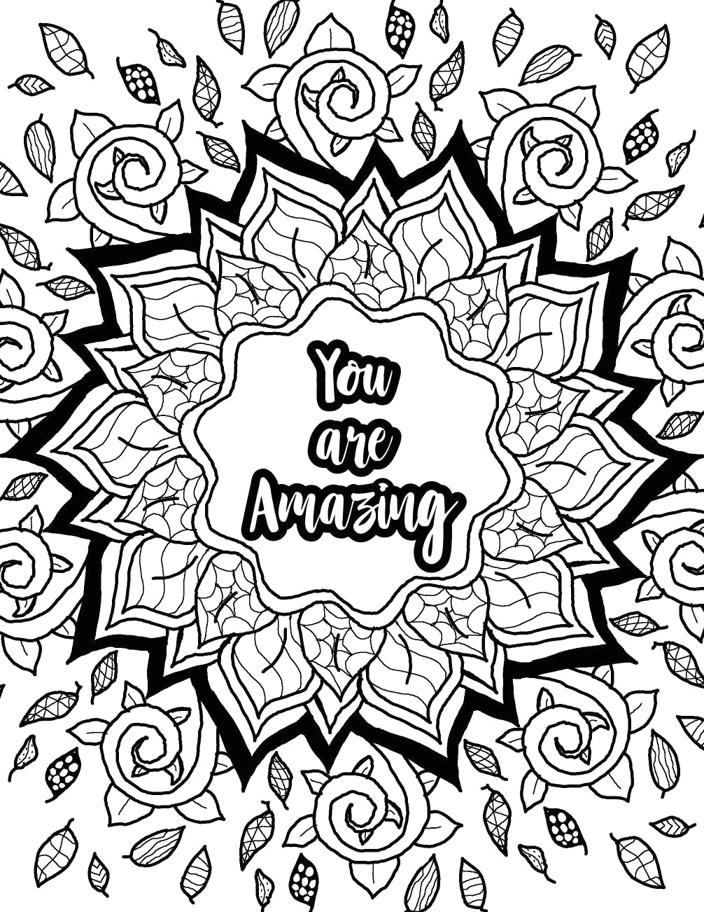 Inspirational Coloring Pages Adult Coloring Pages Jangle Charm Pin On Color Me Quotes