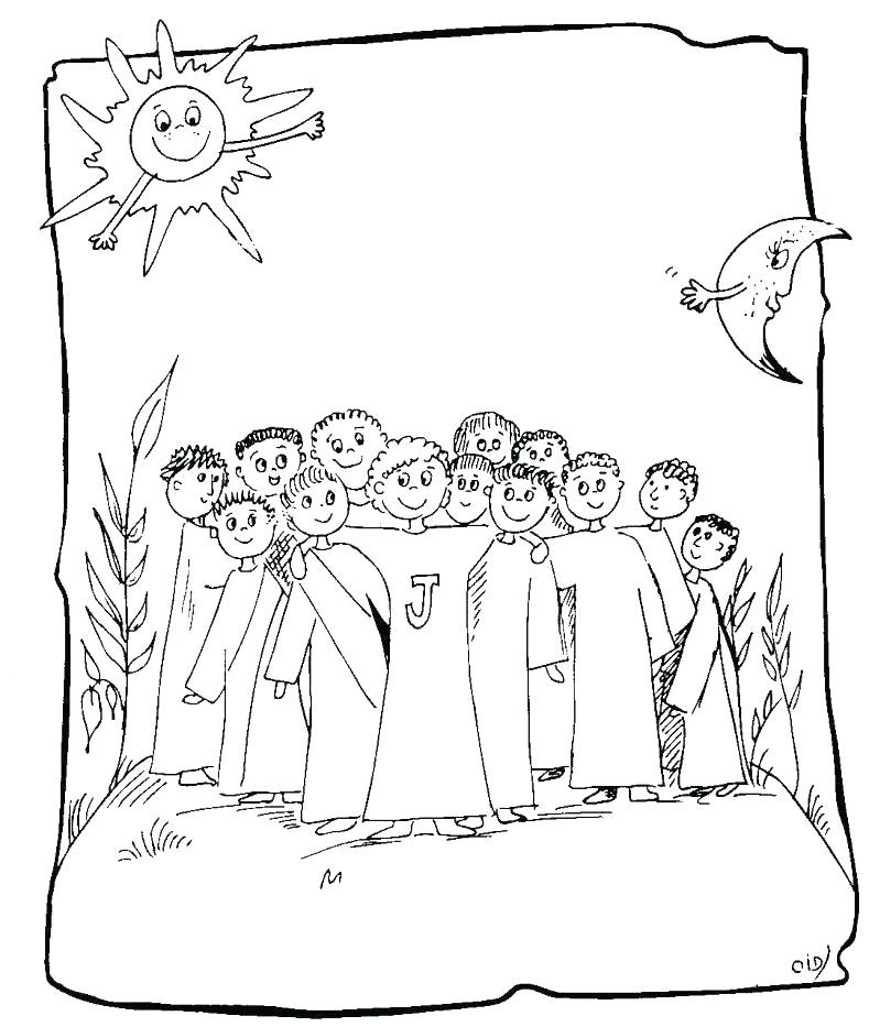 12 apostles of jesus coloring pages