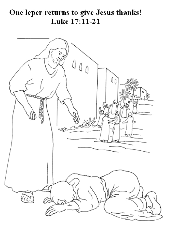 Jesus and the 10 Lepers Coloring Page Pin On Sunday School Camp Ideas