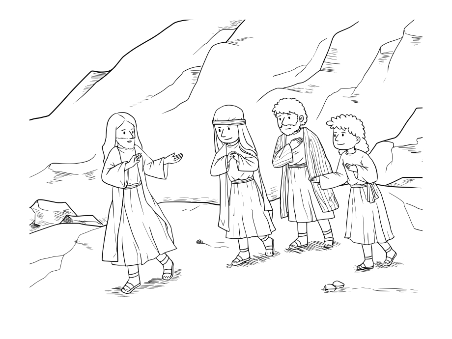 Jesus and the Adulterous Woman Coloring Page Clipart Jesus and the Woman Caught In Adultery Coloring