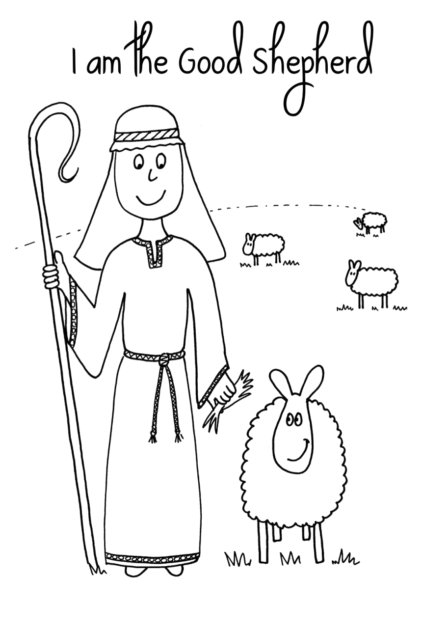 TibxhhT jesus lost sheep coloring page for desktop draw