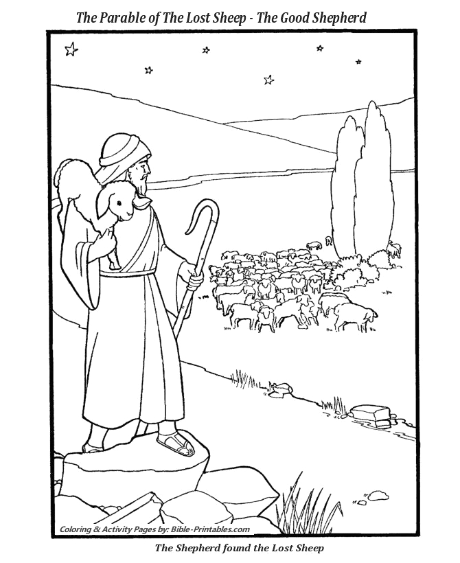 Jesus and the Lost Sheep Coloring Page Jesus with Sheep Coloring Pages Unique the Parable the
