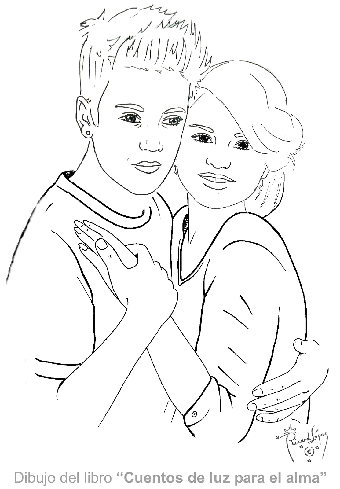 Justin Bieber and Selena Gomez Coloring Pages Justin Bieber with Selena Gomez Coloring Pages to Print