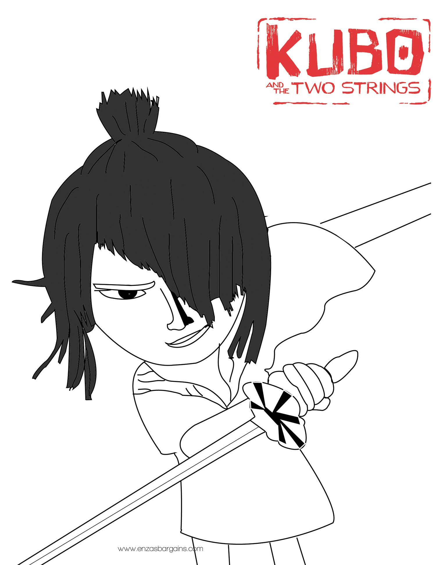 Kubo and the Two Strings Coloring Pages Kubo Coloring Sheet
