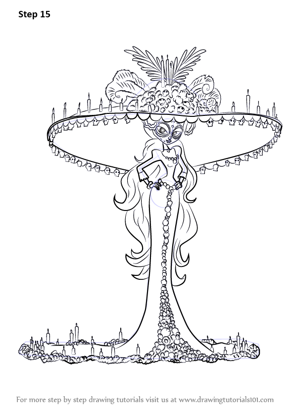 La Muerte Book Of Life Coloring Pages Learn How to Draw La Muerte From the Book Of Life the