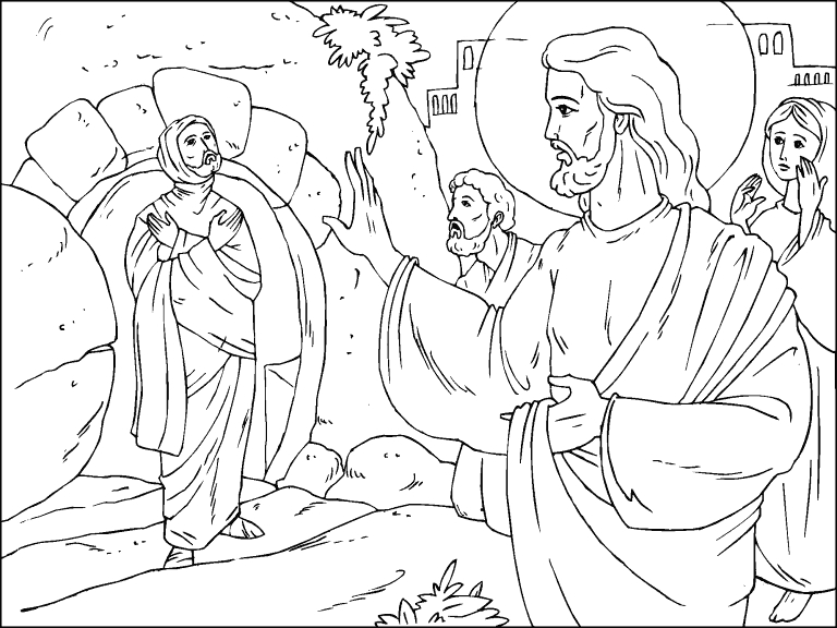 Lazarus Raised From the Dead Coloring Page Lazarus Raised From the Dead Coloring Page Coloring