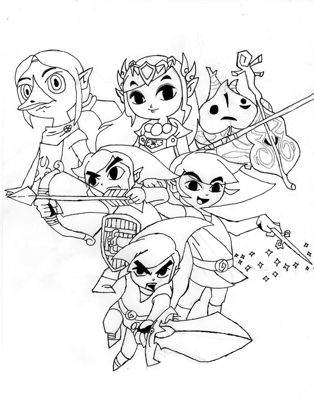 Legend Of Zelda Wind Waker Coloring Pages Legend Zelda Wind Waker Drawing D by Chaoticblades212