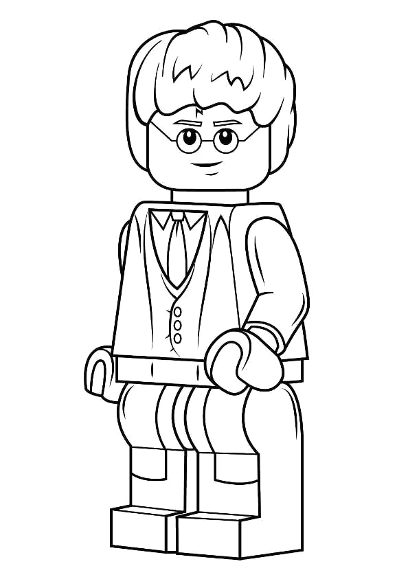 Lego Harry Potter Years 5 7 Coloring Pages Kids N Fun
