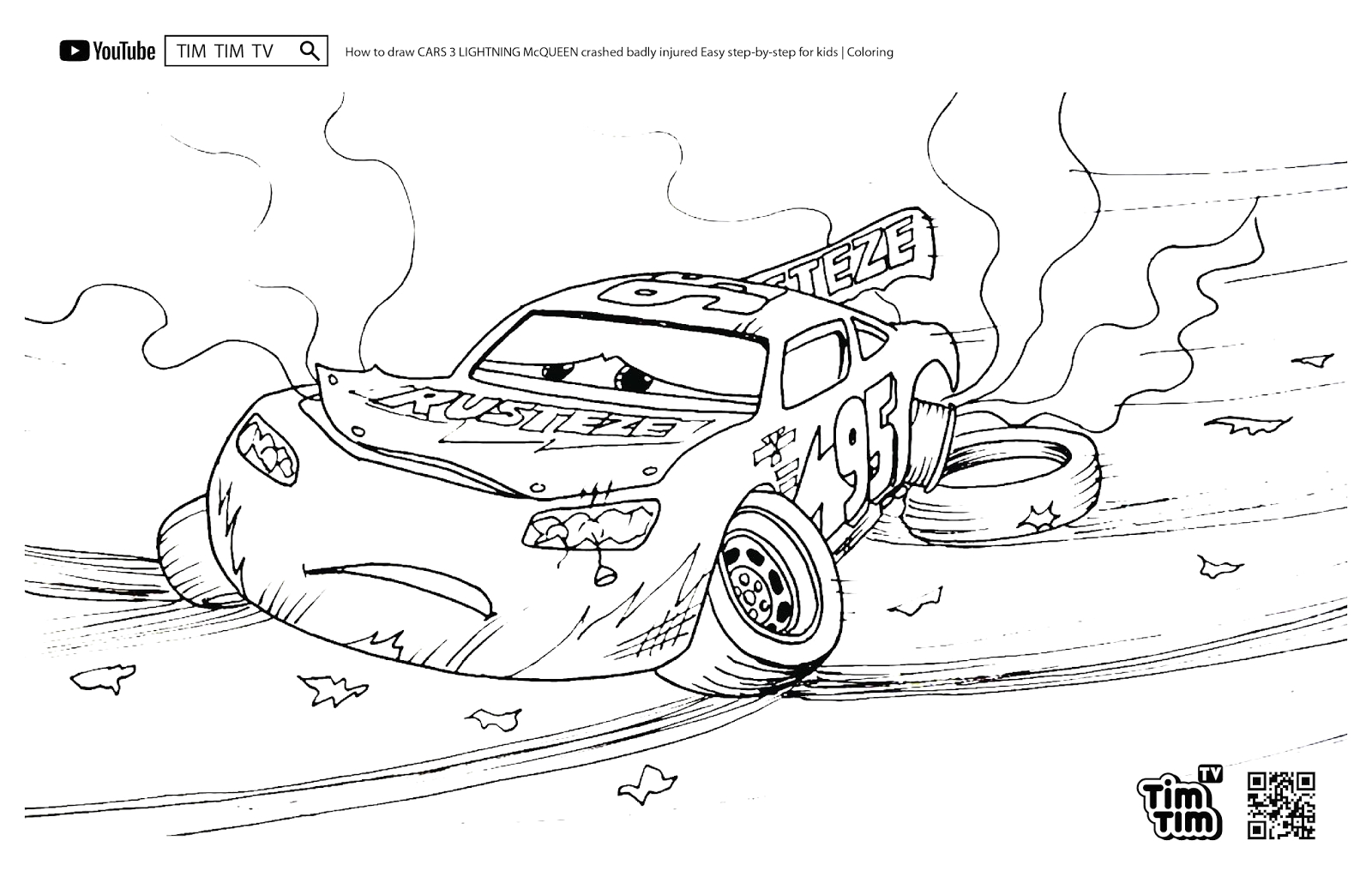 cars 3 coloring pages lightning mcqueen crashed photo album
