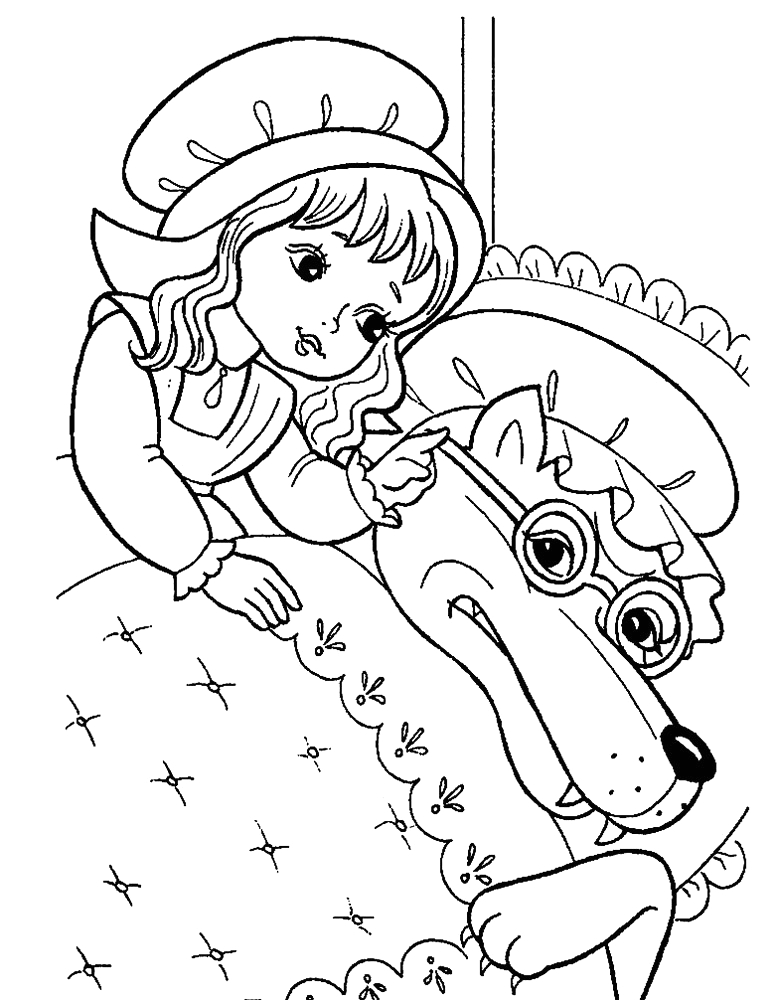 Little Red Riding Hood Coloring Pages Printable Little Red Riding Hood Free Colouring Pages