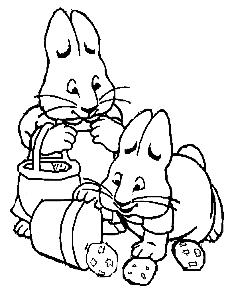 Max and Ruby Coloring Pages to Print Free Printable Max and Ruby Coloring Pages for Kids