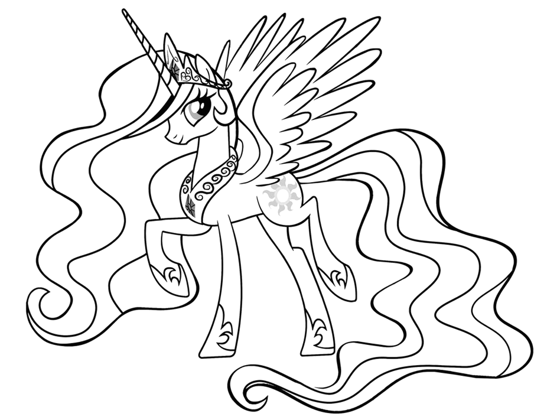 My Little Pony Coloring Pages Princess Celestia Princess Celestia Coloring Pages Best Coloring Pages for