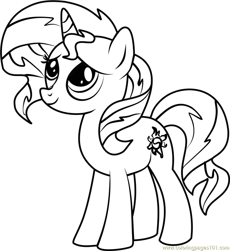 My Little Pony Sunset Shimmer Coloring Pages Sunset Shimmer Printable Coloring Pages Bltidm