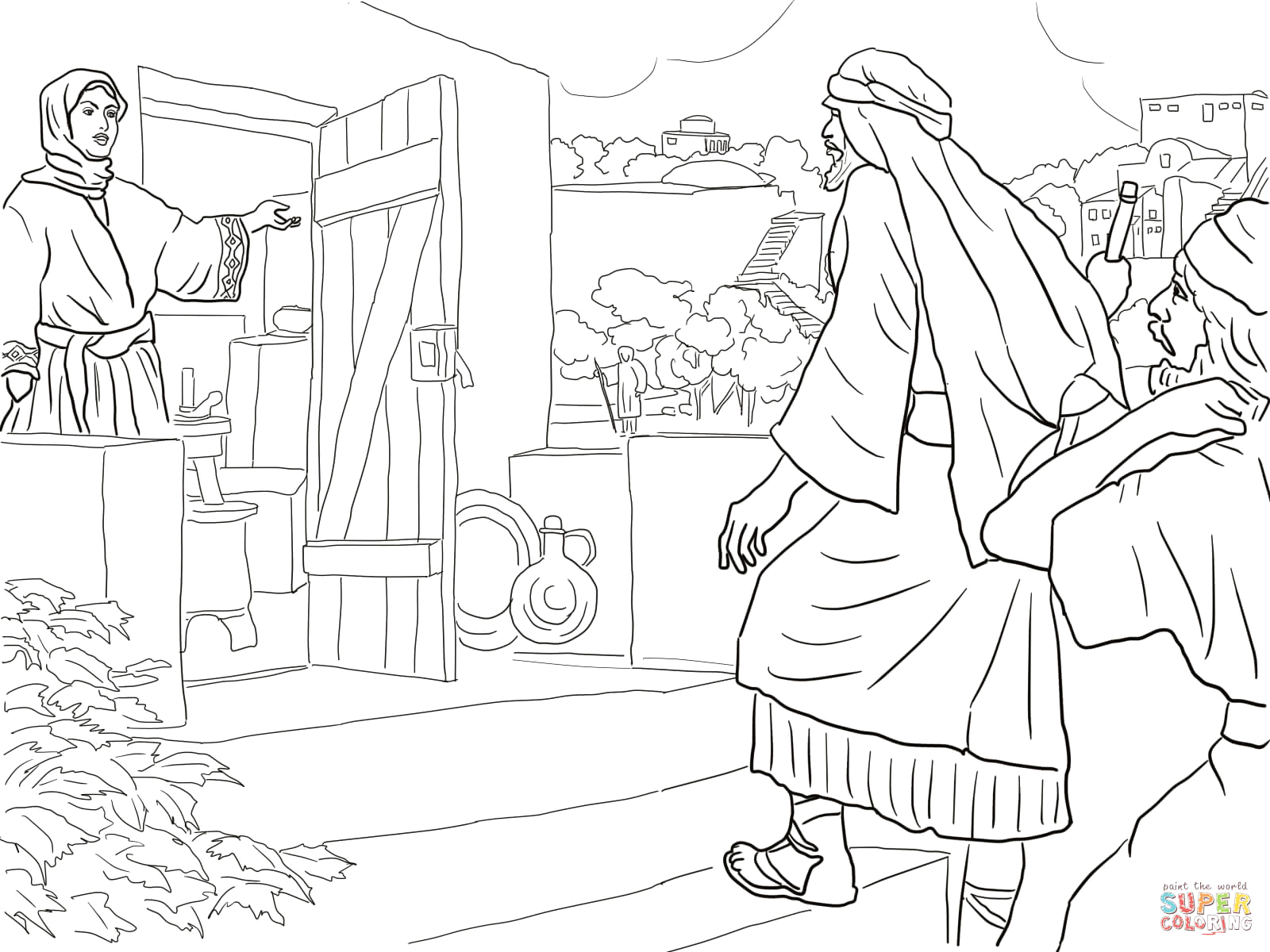 New Room Built for Elisha Coloring Page New Room Built for Elisha Coloring Page