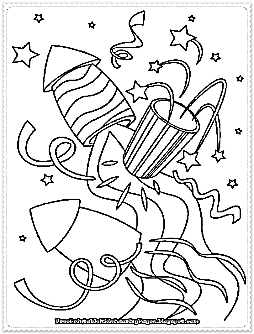 New Years Eve Coloring Pages for Kids New Year Printable Coloring Pages Free Printable Kids