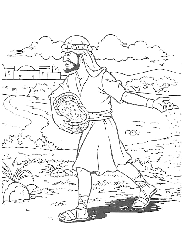 Parable Of the sower Bible Coloring Pages Pin On Bible Nt Parable Of sower