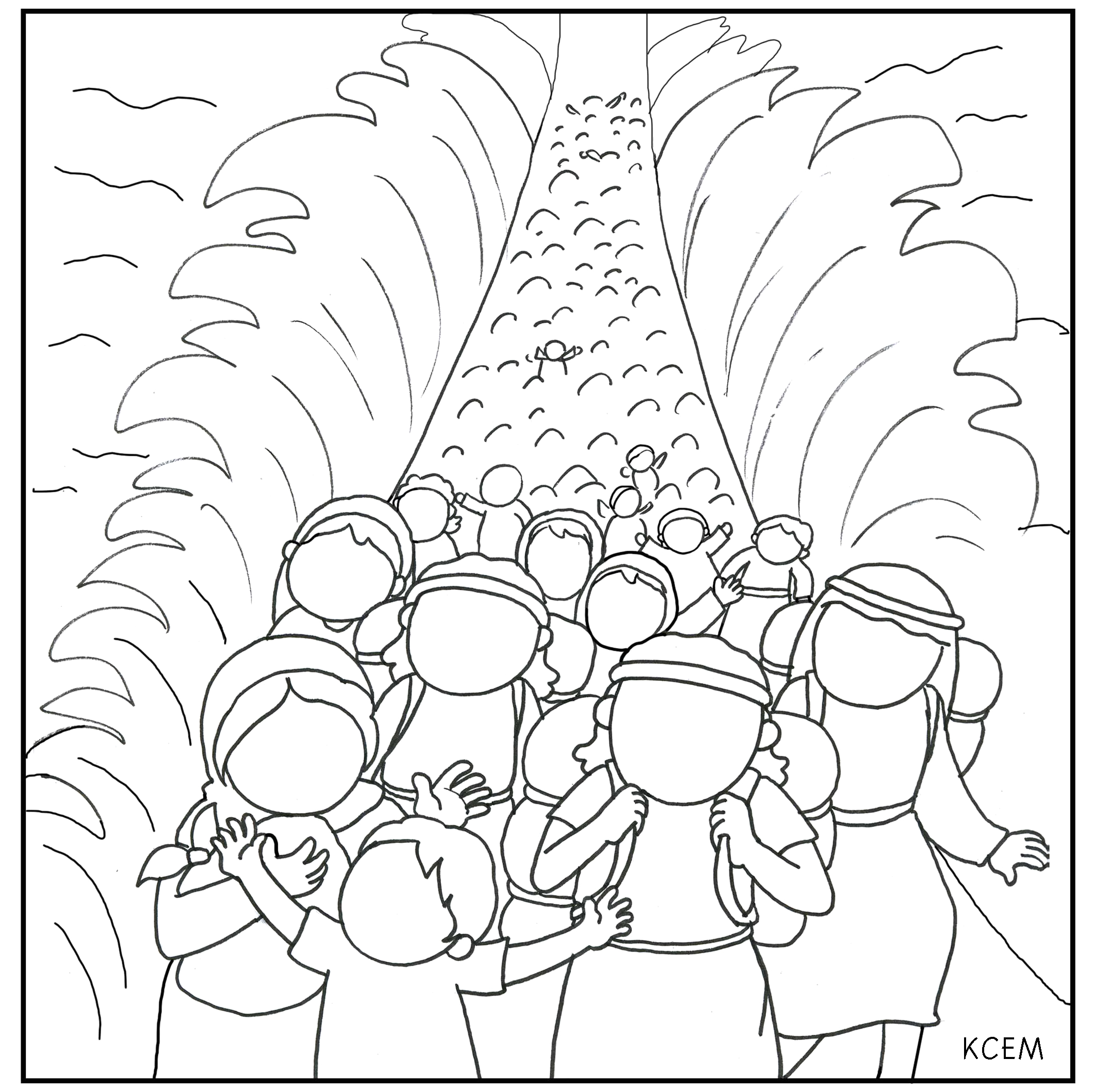 Parting Of the Red Sea Coloring Page Moses Parting the Red Sea Coloring Page Coloring Home