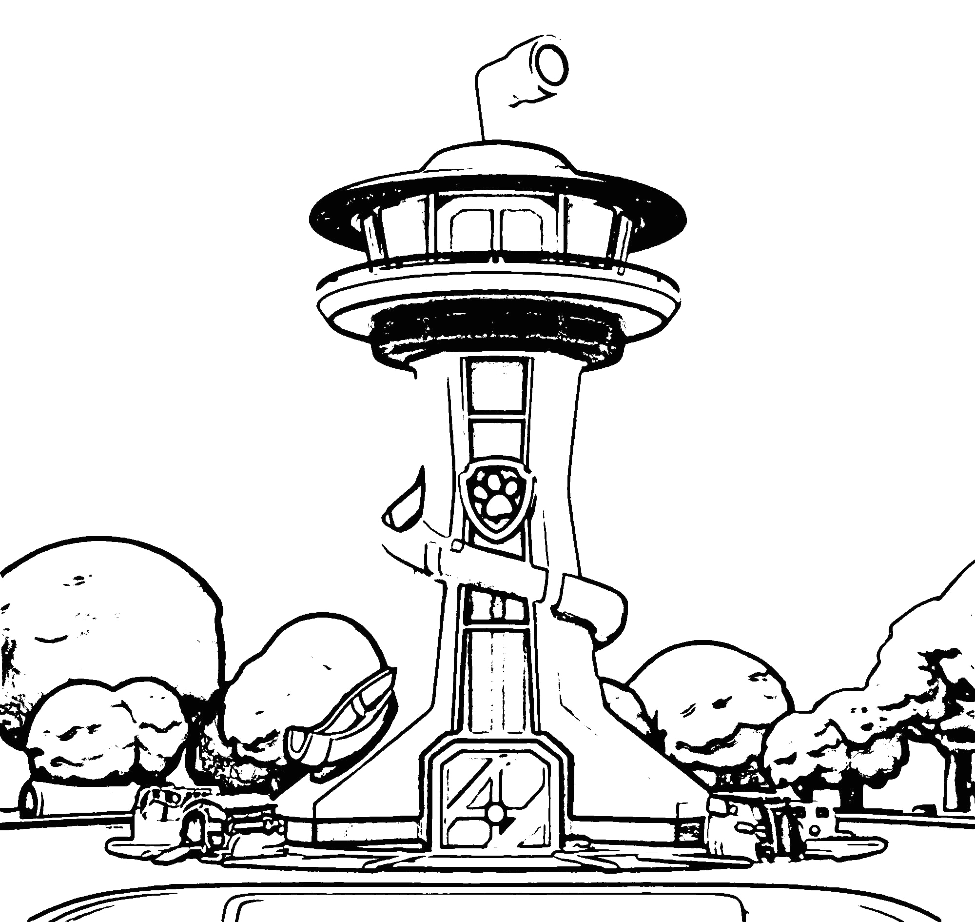 lookout paw patrol coloring page