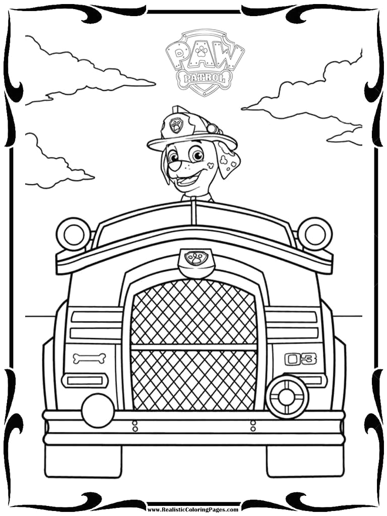paw patrol lookout tower coloring page sketch templates