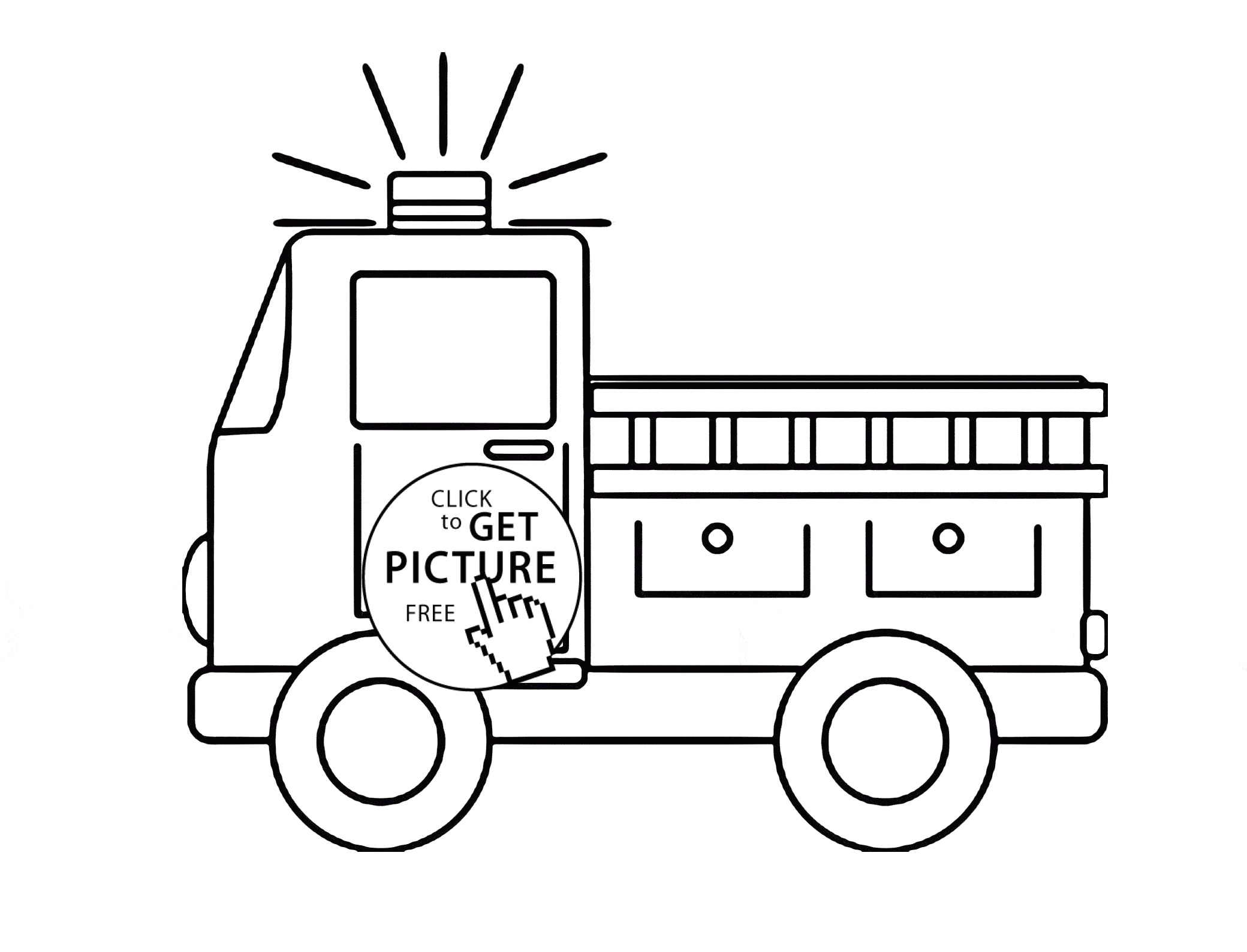 fire truck marshall paw patrol coloring page