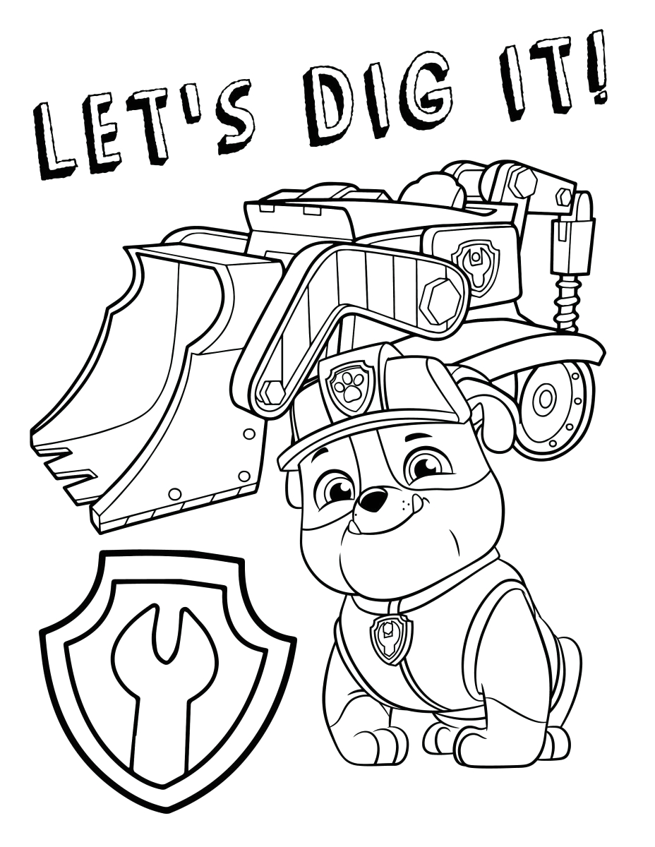 marshall paw patrol coloring page coloring pages paw patrol coloring pages marshall fire truck