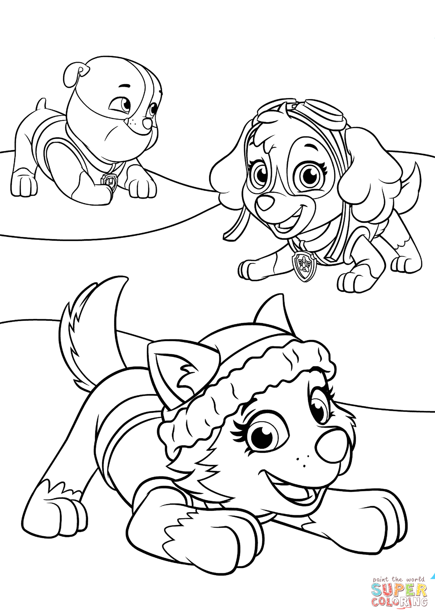 paw patrol everest coloring pages to print sketch templates