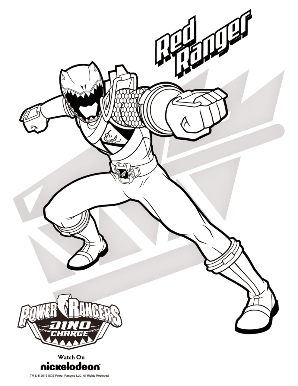 megazord power rangers dino charge coloring pages